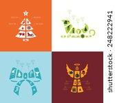 christmas flat infographic | Shutterstock .eps vector #248222941