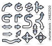 glossy arrows icon set | Shutterstock .eps vector #24822520
