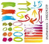 hand drawn highlighter elements ... | Shutterstock .eps vector #248229259