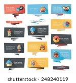 birthday flat banner background ... | Shutterstock .eps vector #248240119