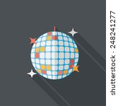 disco ball flat icon with long... | Shutterstock .eps vector #248241277