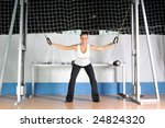young woman practicing fitness... | Shutterstock . vector #24824320