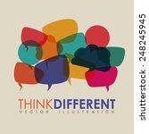 think different design  vector...   Shutterstock .eps vector #248245945