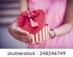 woman hands holding a gift | Shutterstock . vector #248246749