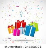 celebration background with... | Shutterstock . vector #248260771