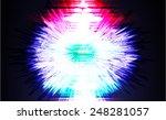 light abstract technology... | Shutterstock .eps vector #248281057