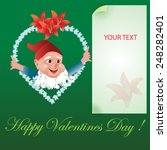 valentines day card with cute... | Shutterstock .eps vector #248282401