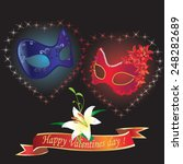 valentines day card with... | Shutterstock .eps vector #248282689