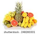 assortment of exotic fruits... | Shutterstock . vector #248283331