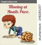 A Boy Moving Like A Snail