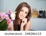 a portrait of young woman with... | Shutterstock . vector #248286115