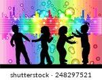 children silhouettes | Shutterstock .eps vector #248297521