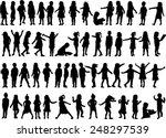 children silhouettes | Shutterstock .eps vector #248297539