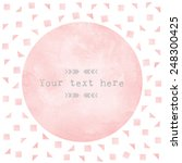 pink watercolor circle paper...   Shutterstock .eps vector #248300425