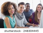 students working in computer... | Shutterstock . vector #248304445