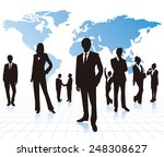 business people with world map... | Shutterstock .eps vector #248308627