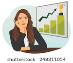 businesswoman looking up on a... | Shutterstock .eps vector #248311054