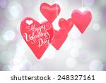 happy valentines day against... | Shutterstock . vector #248327161