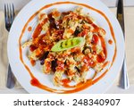 appetizing main course on white ... | Shutterstock . vector #248340907