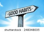 good habits sign with a... | Shutterstock . vector #248348035
