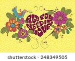 saint valentine card with heart ... | Shutterstock .eps vector #248349505