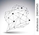 contemporary techno black and... | Shutterstock .eps vector #248349565