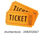 ticket   orange movie or raffle ... | Shutterstock . vector #248352067