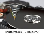 a close up shot of harddisk | Shutterstock . vector #24835897