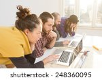 young group of people... | Shutterstock . vector #248360095