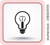 light bulb sign icon  vector... | Shutterstock .eps vector #248365555