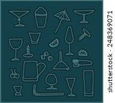 bar glasses vector icons set   Shutterstock .eps vector #248369071