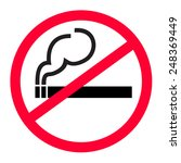 no smoking zone vector | Shutterstock .eps vector #248369449