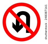 no u turn sign vector | Shutterstock .eps vector #248387161