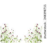floral watercolor background in ... | Shutterstock .eps vector #248398711