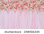 Stock photo beautiful flowers background for wedding scene 248406334