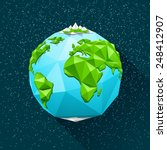 planet earth low poly. vector... | Shutterstock .eps vector #248412907