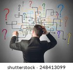 businessman trying to solve a...   Shutterstock . vector #248413099