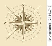 vector oldstyle wind rose... | Shutterstock .eps vector #24841747