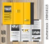 classic yellow brochure... | Shutterstock .eps vector #248418115