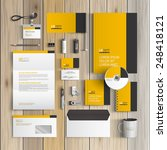 classic yellow corporate... | Shutterstock .eps vector #248418121