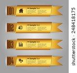 gold modern text box template... | Shutterstock .eps vector #248418175