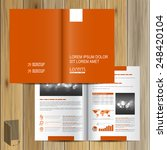 classic orange brochure... | Shutterstock .eps vector #248420104