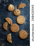 top view of traditional cookies ...   Shutterstock . vector #248420545
