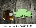 Glass Of Whiskey And Clovers To ...