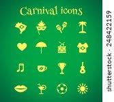 set of 16 brazilian carnival... | Shutterstock .eps vector #248422159