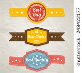 set of retro stickers. vector... | Shutterstock .eps vector #248422177