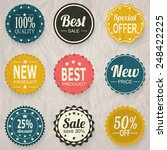 set of shopping discount badges ... | Shutterstock .eps vector #248422225