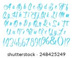 3d blue uppercase and lowercase ... | Shutterstock . vector #248425249