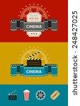 retro cinematography banners... | Shutterstock .eps vector #248427025