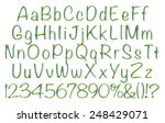complete alphabet with digit... | Shutterstock . vector #248429071